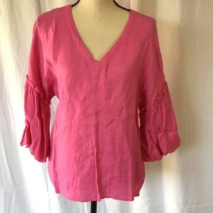 TCEC Pink Bell Arm Blouse